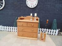 SOLID PINE FARMHOUSE DOVETAIL CHEST OF DRAWERS PROPER CHUNKY ONE