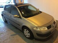 Renault Megane in stunning silver. Comes with fsh.FULL MOT