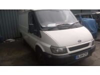 2004 ford transit runs very well but needs welding and a drives side door window