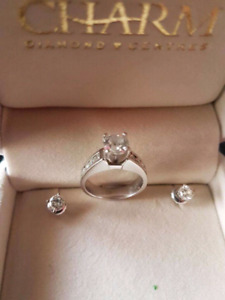 **REDUCED** Engagement ring and earrings set