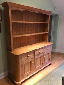 Large pine dresser in good condition