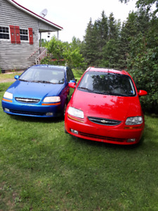 2004 Chevrolet Aveo Hatchback and 2008 Aveo for parts