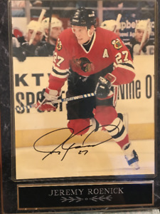 Jeremy Roenick Signed Photo display Plaque Chicago Blackhawks NH