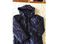Girls spotty quilted coat age 8/9 very unusual