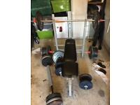 Weights and bench 200kg