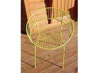 Metal garden chairs brand new round