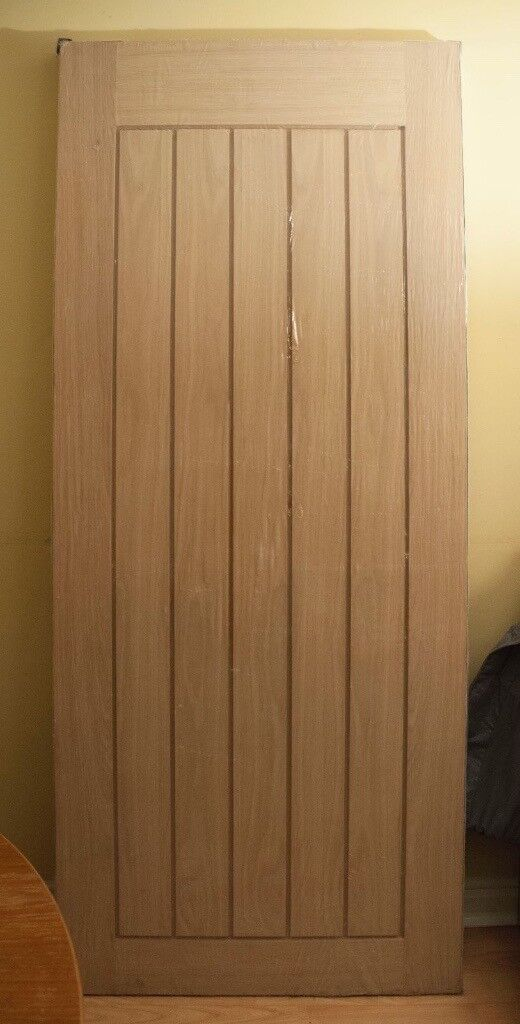 Mexicana Oak Door - Internal Unfinished Door: 838 x 1981mm - Reduced To Clear, only £50! Brand New!