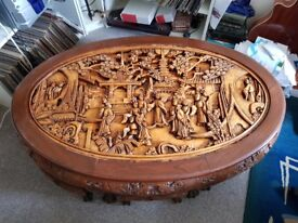 Coffee Table Hand Carved oriental Style