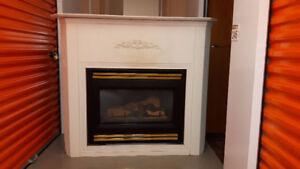 Gas Fireplace Insert (Corner)