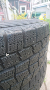 14 inch dunlop winter tires,  mint condition barely used.