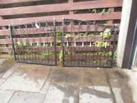 Bespoke Ornate Black & Gold Driveway Gates