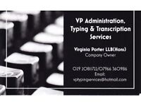 Administrative Help - Virtual Assistant - Typing Services