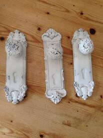 shabby chic robe or towel knobs, vintage look