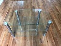 TV unit clear glass