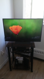 """Insignia 39"""" 1080p 60Hz LED HDTV (NS-39D40SNA14) With TV stand"""