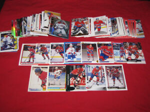 Large groups of Canadiens (200 cards) and Red Wings (175)