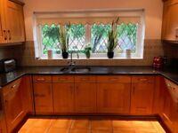 Solid Wood Kitchen / Black Granite Worktops & Appliances
