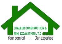 Chaleur construction/Mini excavation 2017