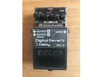 Boss RV-3 digital reverb / delay RARE pedal