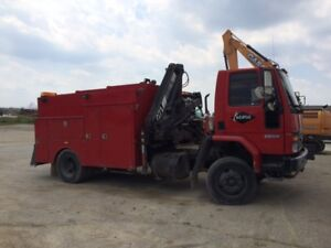 Ford  CF7000 Service Truck with Crane
