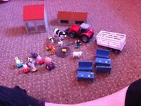 Small toys farm set and peppa pig