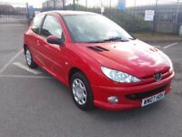 "2007 PEUGEOT 206 1.4 ""LOOK"" IN RED LOW INSURANCE PART EXCHANGE WELCOME"