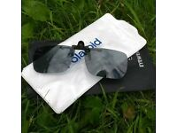 Flip down Polaroid glasses for fishing