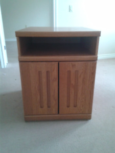 Multi-functional solid wood T.V. or Microwave storage unit.