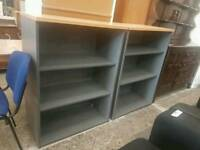 Modern small grey bookcase