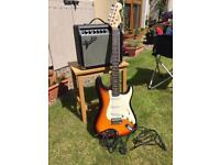 Fender Squier Strat with Fender Frontman 15G Amp
