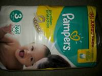 Pampers size 3 x3 packs of 66