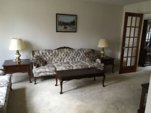French Provincial Couch, love seat, chair