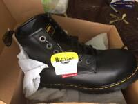 Dr Martens airwair steel toe safety boots