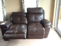 Reclining two seat sofa