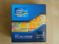 i7 3770 socket 1155 Processor, Boxed with Fan and in perfect condition