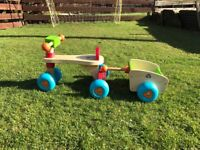 Wooden trike for toddler