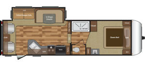 2016 KEYSTONE HIDEOUT 276RLS FIFTH WHEEL RV TRAILER
