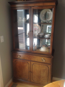 Vintage solid wood China cabinet $150 OBO