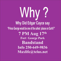 Join Edgar Cayce Meeting at Fort George Park Bandstand