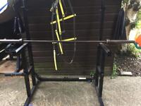 Squat Rack,Barbell and 120KG Weights