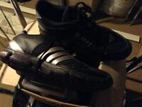 Adidas Black Leather/ Mesh Trainers