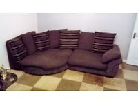 Large Sofa and Swivel Chair for Sale