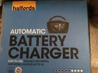 Automatic battery charger by. Halfords BNIB
