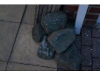 8 x Granite Garden Rockery Decorative Stones
