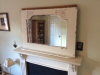 Large painted over mantle mirror
