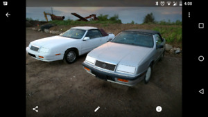 2 rust free lebaron  turbo convertibles 1200 for both