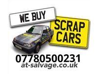 Scrap car collection cash for scrap my car or van A.t salvage