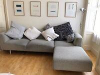 Cassina Italian Designer Sofa, L shaped seats 3 or 4 people, a chaise longue section to stretch out