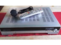 Digital HD Satellite Receiver with REMOTE CONTROL and POWER LEAD