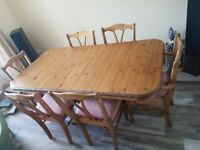 Ducal Extendable Pine Dining Table And 6 Chairs